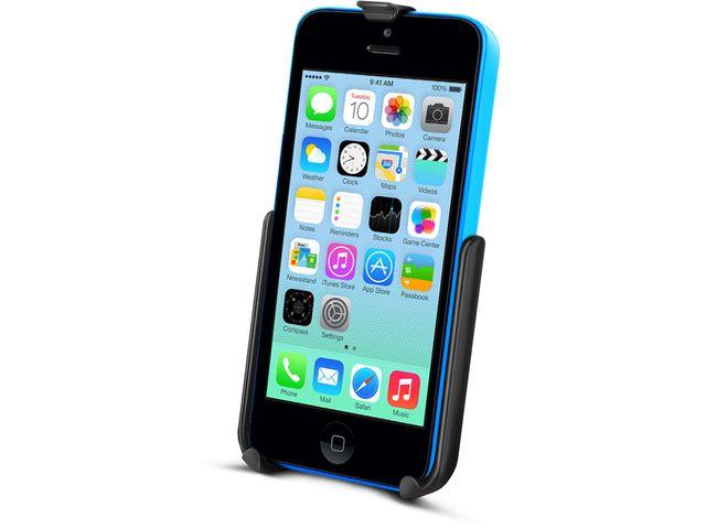 obsah balení RAM Mounts držák na iPhone 5C do auta na palubní desku se silným samolepícím úchytem, sestava RAP-B-378-AP16U