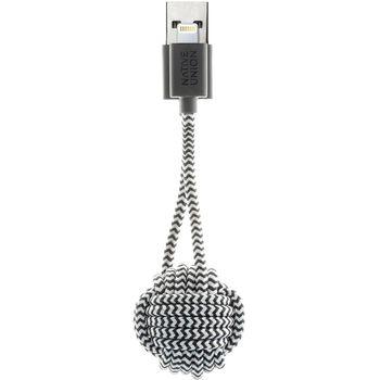 Native Union Key klíčenka s Lightning kabelem, 16.5cm, bílo-černá