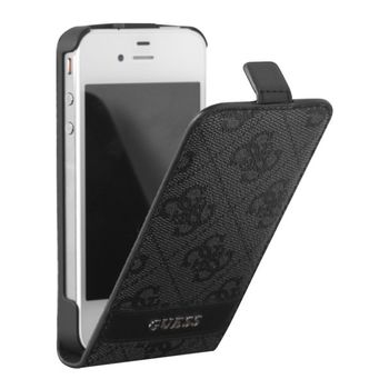 Guess 4G Collection Flip pouzdro iPhone 5, šedé