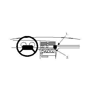 Brodit ProClip montážní konzole pro Peugeot 405 88-92, na střed vpravo