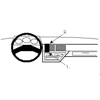 Brodit ProClip montážní konzole pro Nissan Micra 88-92