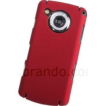 Zadní kryt pogumovaný Brando - Samsung i8910 HD (červená)
