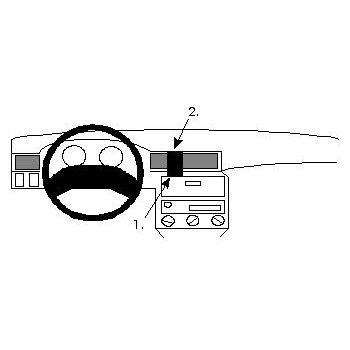 Brodit ProClip montážní konzole pro Opel Astra 92-97, na střed
