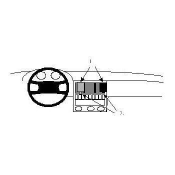 Brodit ProClip montážní konzole pro Audi 80, 90  87-02, na střed