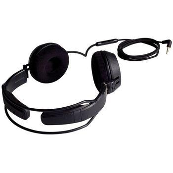 Náhlavní sluchátka Motörheadphönes Bomber s mikrofonem + Pouzdro Burner XXL (černá/červená)