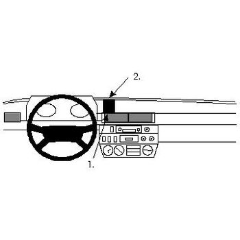 Brodit ProClip montážní konzole pro Mercedes Benz Geländewagen 79-89/Puch G 4X4 79-88, na střed
