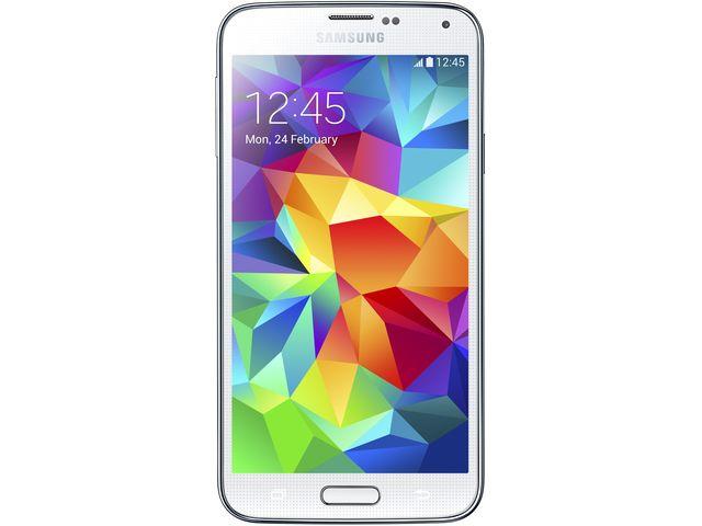 obsah balení Samsung GALAXY S5 G900 Shimmery White + Sygic Evropa offline GPS navigace