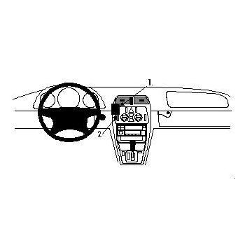 Brodit ProClip montážní konzole pro Mercedes Benz CLK-Class 97-01, na střed vlevo