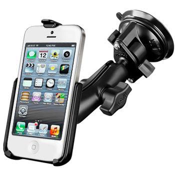 RAM Mounts držák na iPhone 5 a 5S do auta s extra silnou přísavkou na sklo, sestava RAM-B-166-AP11U