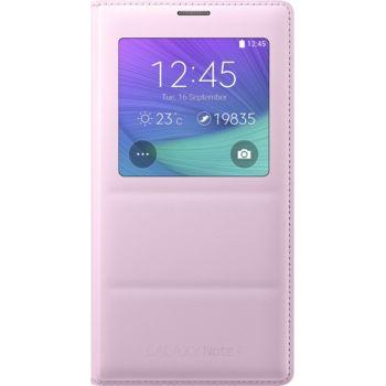 Samsung flipové pouzdro S-View EF-CN910BP pro Galaxy Note 4 (N910), růžové