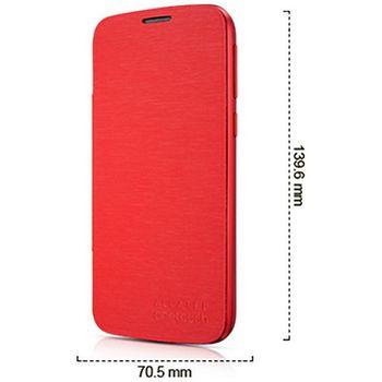 ALCATEL ONETOUCH 7041D POP C7 Flip pouzdro, červené, rozbaleno
