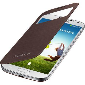Samsung flipové pouzdro S-view EF-CI950BA pro Galaxy S4 (i9505), hnědá