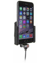 Brodit držák do auta na Apple iPhone 6/6s/7 bez pouzdra, s nabíjením z cig. zapalovače/USB, samet