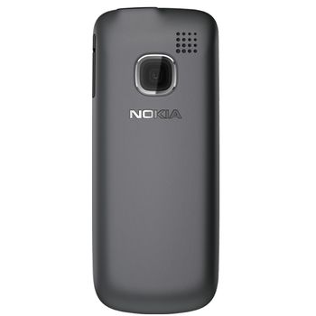 Nokia C1-01 Dark Gray + pouzdro Krusell Gaia černé