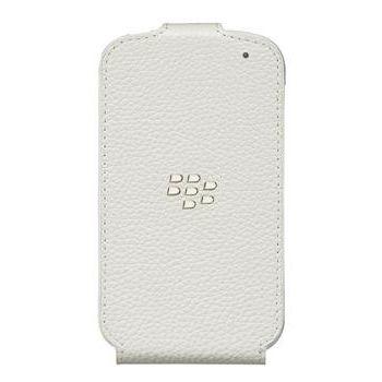 BlackBerry pevný kryt s koženým flipem pro Q10, bílá