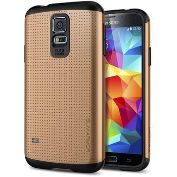 Spigen pevné pouzdro Slim Armor Copper gold pro Samsung Galaxy S5, zlatá