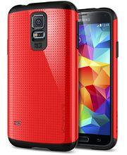 Spigen pevné pouzdro Slim Armor Crimson red pro Samsung Galaxy S5, červená