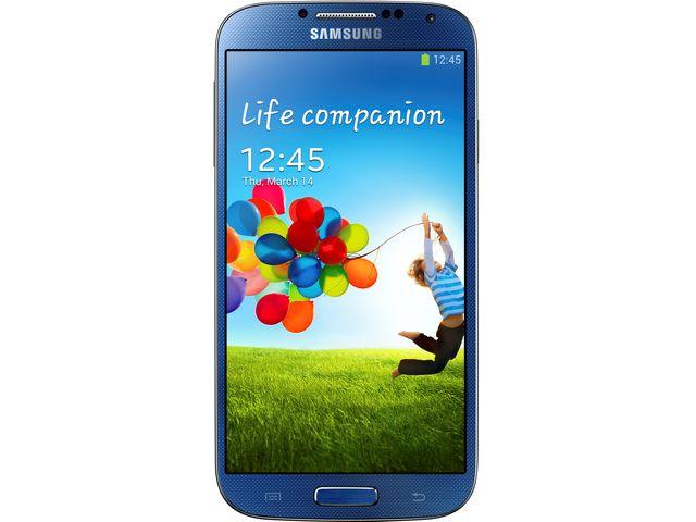 obsah balení Samsung GALAXY S4 i9505 Blue + držák Brodit s nabíjením
