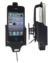 Brodit držák do auta na Apple iPhone 4S/4 bez pouzdra, se skrytým nabíjením, pojistka, samet