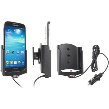 Brodit držák do auta na Samsung Galaxy S4 i9505 bez pouzdra, s nabíjením z cig. zapalovače/USB