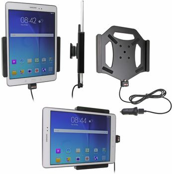 Brodit držák do auta na Samsung Galaxy Tab A 9.7 bez pouzdra, s nabíjením z cig. zapalovače/USB
