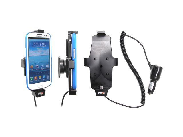 obsah balení Brodit držák do auta pro Samsung Galaxy S4 a S III i9300 v pouzdru s nabíjením + pouzdro Krusell modré