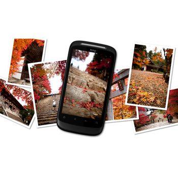 HTC Desire S oranžová + pouzdro Brando Pounch