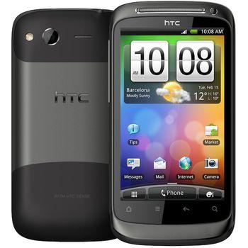 HTC Desire S stříbrná + miniaturní kapacitní stylus černý