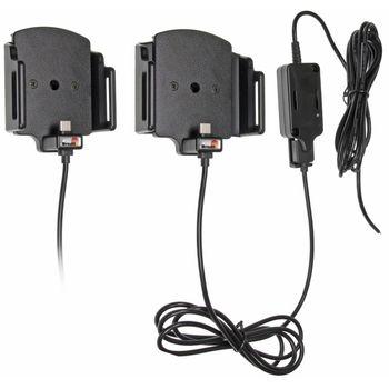 Brodit držák do auta nastavitelný s USB-C se skrytým nabíjením š.62-77 mm, tl.6-10mm