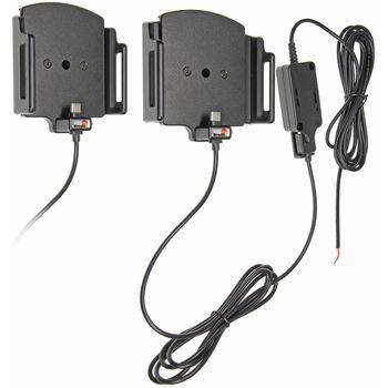 Brodit držák do auta na mobilní telefon s USB-C nastavitelný se skrytým nab. š.75-89 mm, tl.9-13mm
