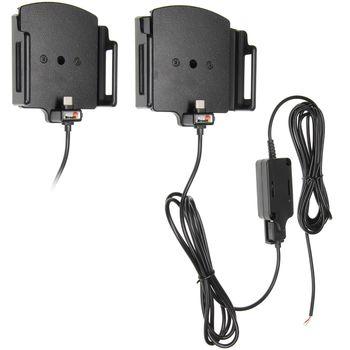 Brodit držák do auta na mobilní telefon s USB-C nastavitelný se skrytým nab. š.75-89 mm, tl.12-16mm