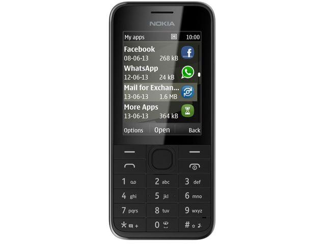obsah balení Nokia 208 černá