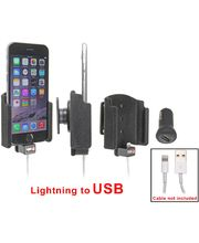 Brodit držák do auta na Apple iPhone 6 bez pouzdra, s průchodkou pro Lightning kabel, CL, samet