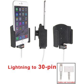 Brodit držák do auta na Apple iPhone 6 Plus bez pouzdra, s průchodkou pro Light. na 30-pin, samet