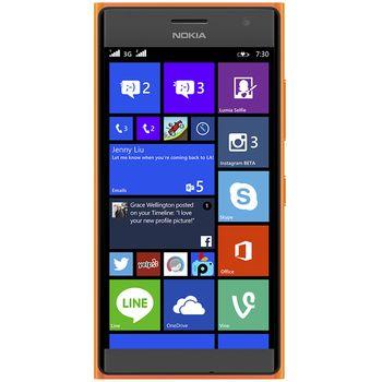 NOKIA Lumia 730 DS oranžová + Leef microSDHC 32GB paměťová karta